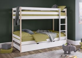Julian Bowen Nova Bunk Bed in White with Optional Trundle