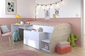 Parisot Milky Midsleeper Cabin Bed