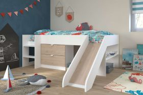 Parisot Tobo Midsleeper Cabin Bed with Slide & Drawers