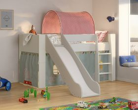 Steens for Kids Midsleeper Bed with Slide & Accessories