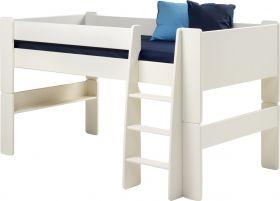 Steens For Kids Midsleeper in Solid Plain White