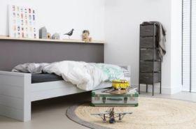 Dennis Single Bed in Concrete Grey