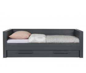 Dennis Day Bed in Steel Grey with Optional Storage Drawer