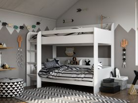 Kidsaw Aerial Bunk Bed in White