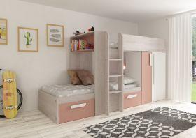 Kids Avenue Trasman Barca Bunk Bed - Pink