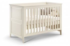 Julian Bowen Cameo Stone White Cot / Toddler Bed