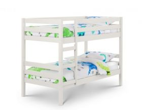 Julian Bowen Camden White Bunk Bed + 2 x Premier Mattresses
