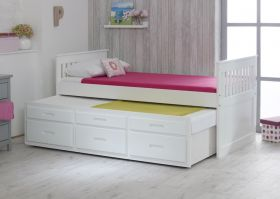 Amani UK Captains Bed with Underbed in White