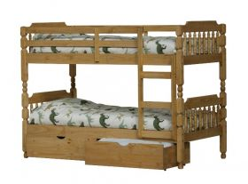 Amani UK Colonial Spindle Bunk Bed in Waxed Pine