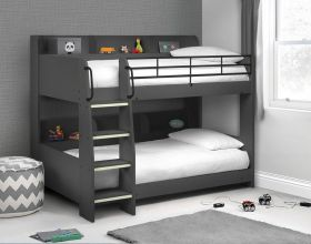 Julian Bowen Domino Bunk Bed in Anthracite