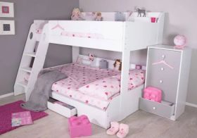 Flair Flick Triple Bunk Bed in White