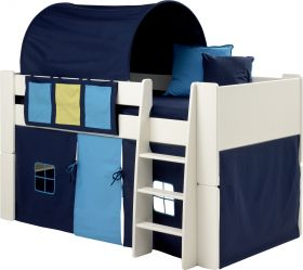 Steens for Kids Midsleeper with Blue Accessories + Mattress