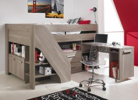 Gami Hangun Cabin Bed with Storage, Shelving & Desk