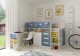 Kids Avenue Trasman Girona Midsleeper Bed - Blue