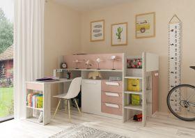 Kids Avenue Trasman Girona Midsleeper Bed - Pink