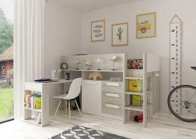 Kids Avenue Trasman Girona Midsleeper Bed - White
