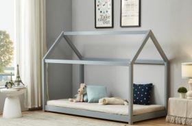 Birlea House Single Bed in Grey