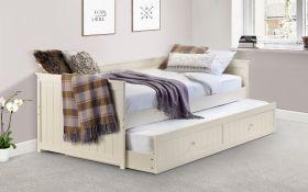 Julian Bowen Jessica Day Bed + 2 x Quilted Sprung Mattresses