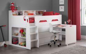Julian Bowen Jupiter Midsleeper Cabin Bed in White