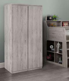 Julian Bowen Jupiter Grey Oak 2 Door Wardrobe