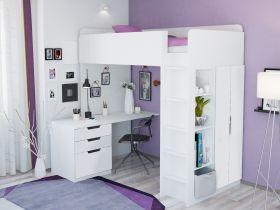 Kidsaw High Sleeper Loft Bed in White