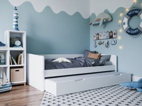 Kidsaw Kudl Day Bed with Trundle - White