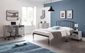 Julian Bowen Onyx Double Bed - Satin Grey