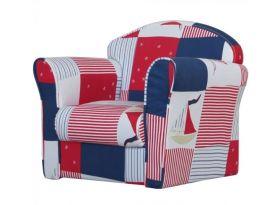 Kidsaw Mini Armchair - Blue Patchwork