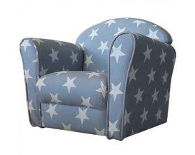 Kidsaw Mini Armchair - Grey/ White Stars