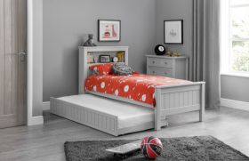 Julian Bowen Maine Bookcase Bed - Dove Grey