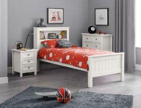 Julian Bowen Maine Bookcase Bed - Surf White