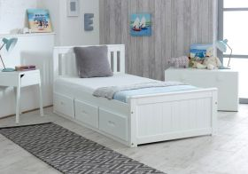 Amani UK Mission Storage Bed in White