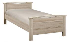 Gami Montana Single Bed in Grey Oak