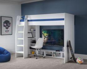Julian Bowen Nebula Gaming Highsleeper Bed in White