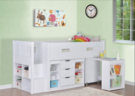 Flair Charlie Mid Sleeper Bed in White