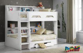Julian Bowen Orion White Bunk Bed & Storage Drawer and Shelves