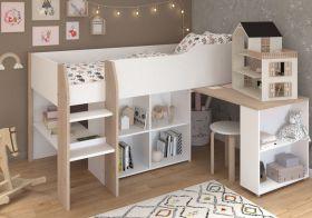 Parisot Finland Midsleeper Bed with Desk & Storage