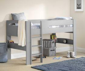 Julian Bowen Pluto Midsleeper Bed in Dove Grey