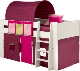 Steens For Kids Midsleeper with Purple/Pink Accessories