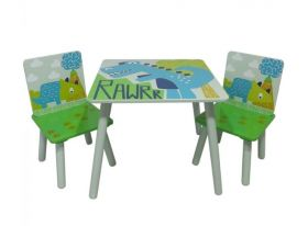 Kidsaw Dinosaur Table and 2 Chairs