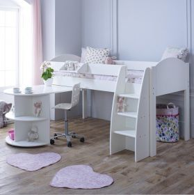 Kids Avenue Eli B Midsleeper Cabin Bed & Pull-out Desk (formerly Stompa Rondo B Midsleeper Bed)