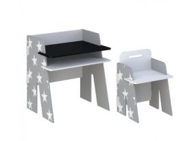 Kidsaw Grey Star Desk and Chair