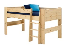 Steens For Kids Midsleeper with 3 Drawer Chest in Natural Lacquer
