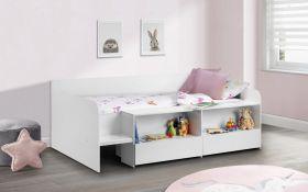 Julian Bowen Stella White Low-Sleeper Bed + Premier Mattress