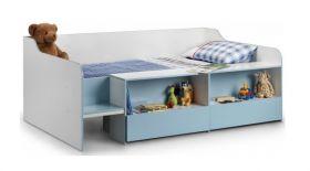 Julian Bowen Stella Blue Low-Sleeper Bed + Quilted Sprung Mattress