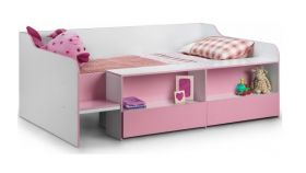 Julian Bowen Stella Low-Sleeper Bed In Pink