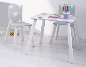 Kidsaw Grey Star Table and 2 Chairs