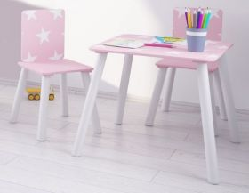 Kidsaw Pink Star Table and 2 Chairs