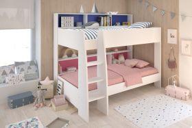 Parisot Tam Tam White Bunk Bed + 2 x Superior Mattress Bundle