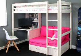 Thuka Hit 7 Highsleeper Bed with Desk & Sofabed